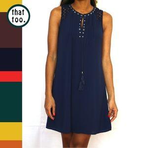 Dresses & Skirts - Navy sleeveless swing dress